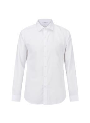 폴리레이온스판 세미와이드카라 드레스셔츠(WT)