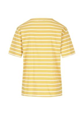 스트라이프 오버핏 반팔 티셔츠(YE)