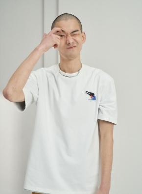 [앤드지X차인철 콜라보]자수와펜 세미오버핏 티셔츠(WT)
