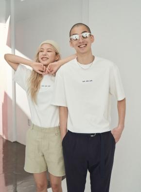 [앤드지X차인철 콜라보]그래픽 포인트 화이트 오버핏 티셔츠