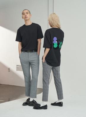 [앤드지X차인철 콜라보]그래픽 블랙 오버핏 티셔츠