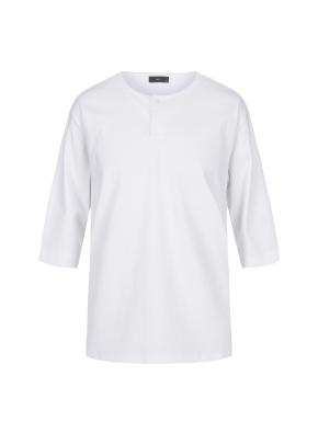 헨리넥 7부 티셔츠(WH)