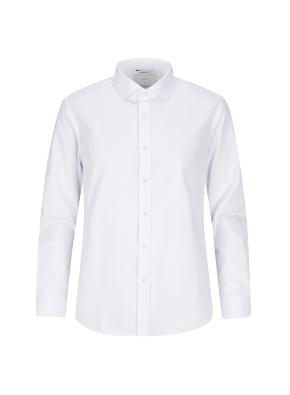 세미와이드카라 스판 화이트 드레스셔츠