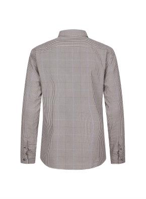 브라운 잔체크 셔츠
