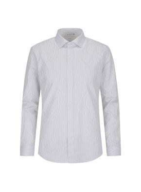 스트라이프 드레스셔츠(BL)