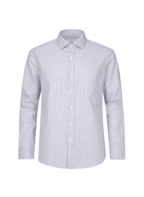 코튼 패턴 체크 드레스셔츠(NV)