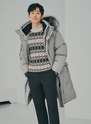 노르딕 자카드 모크넥 스웨터(BR)