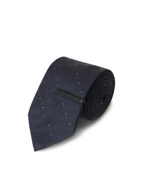 화이트도트 핀장식 넥타이