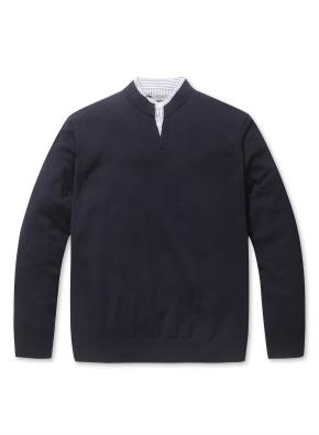 우븐카라 매치 스웨터