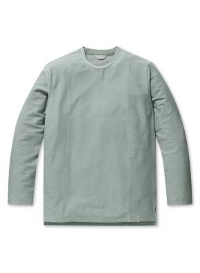 남성 리버스테리 솔리드 라운드 티셔츠 _ (MT)