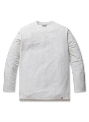 남성 리버스테리 솔리드 라운드 티셔츠 _ (WT)