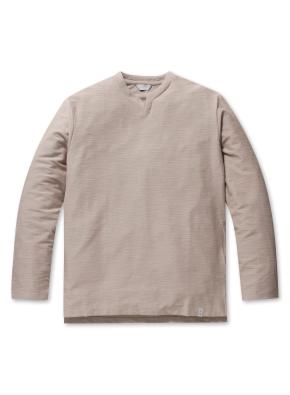 남성 리버스테리 슬릿넥 티셔츠 _ (DBE)