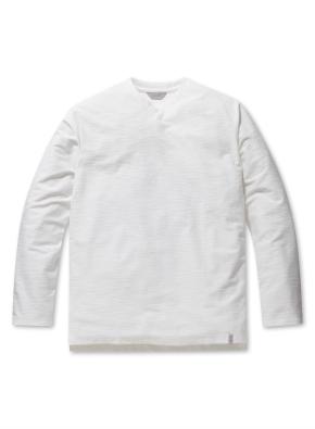 남성 리버스테리 슬릿넥 티셔츠 _ (WT)