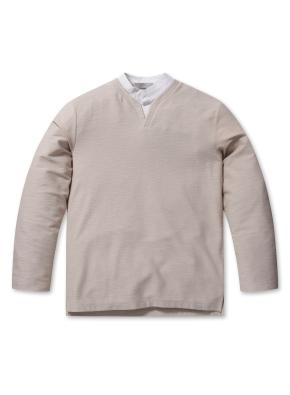 남성 셔츠 슬릿 디테일 티셔츠 _ (BE)