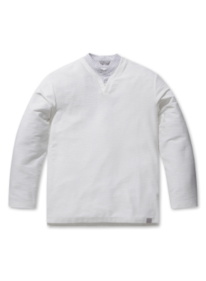 남성 셔츠 슬릿 디테일 티셔츠 _ (WT)
