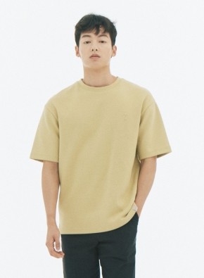 오버핏 양면 반팔 티셔츠