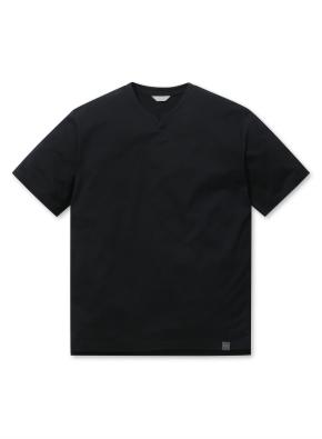 에어로쿨 슬릿넥 반팔 티셔츠