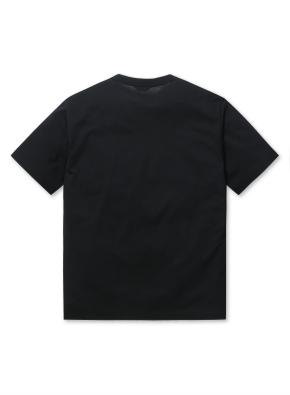 남성 에어로쿨 슬릿넥 반팔 티셔츠 _ (BK)