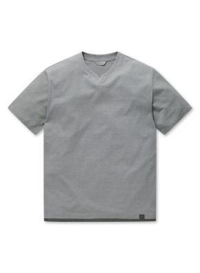 남성 에어로쿨 슬릿넥 반팔 티셔츠 _ (GR)