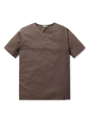 쿨텐션 슬릿넥 반팔 티셔츠