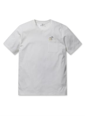 순살탱 콜라보 쿨텐션 와펜 반팔 티셔츠