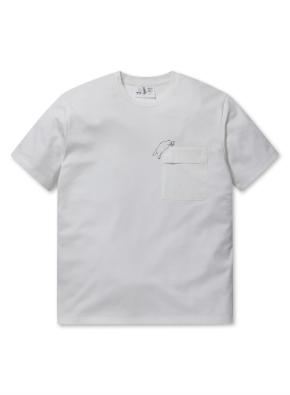 순살탱 콜라보 쿨텐션 우븐 포켓 반팔 티셔츠