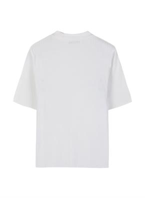 여성 스트라이프 립조직 반팔 티셔츠