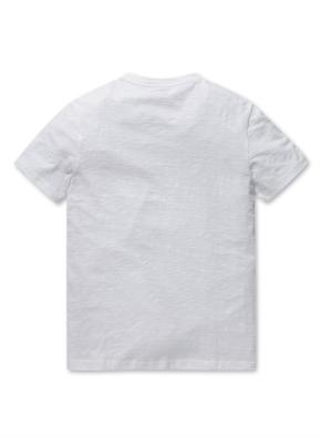 남여공용 슬럽 브이넥 반팔 티셔츠 _ (WT)