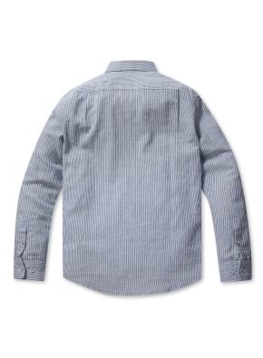 린넨 코튼 기본카라 긴팔 셔츠