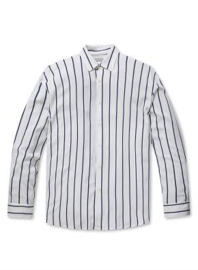 레이온 스트라이프 세미오버핏 셔츠