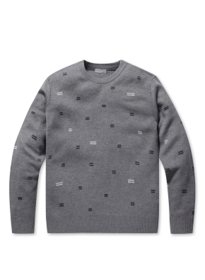 올오버 라운드넥 스웨터