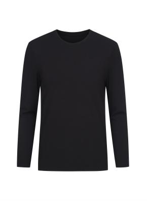 핫스킨 라운드넥 긴팔 티셔츠