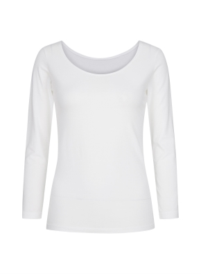 여성 핫스킨 U넥 긴팔 티셔츠