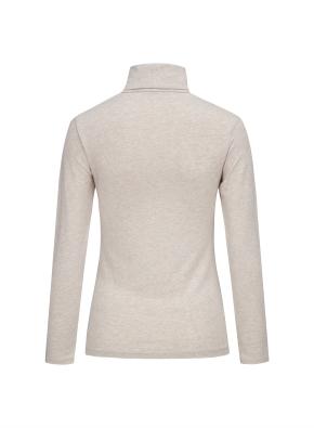 여성 핫스킨 터틀넥 긴팔 티셔츠