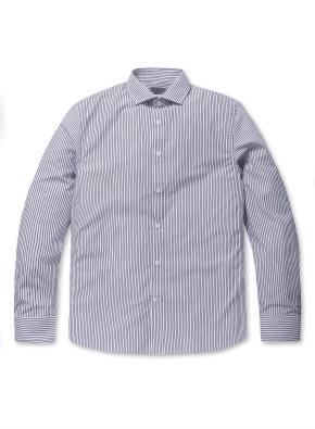 와이드 카라 베이직 셔츠
