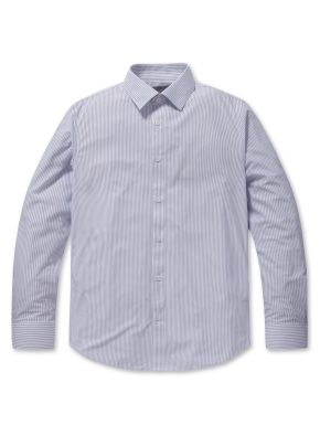 남성 폴리 트리코트 드레스 셔츠 _ (SNV)
