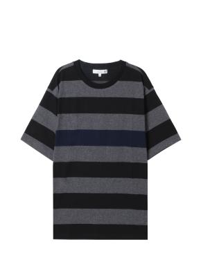 남성 스트라이프 5부 티셔츠 _ (CH)