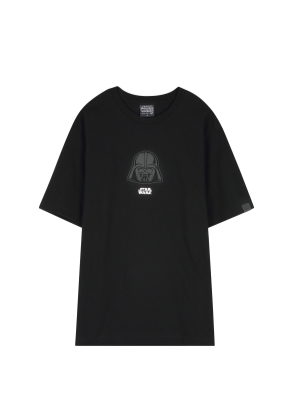 남성 스타워즈 고주파 반팔 티셔츠 _ (BK)