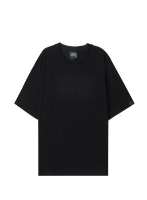 남성 스타워즈 자수 반팔 티셔츠 _ (BK)