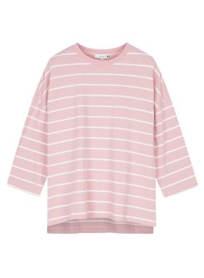 여성 단가라 7부 티셔츠 _ (PK)