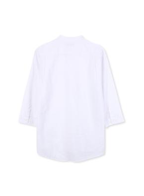 남성 밴드카라 오픈 셔츠 _ (WT)