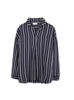 여성 체크 패턴 셔츠 _ (NV)