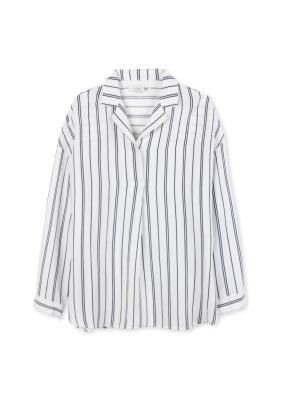 여성 체크 패턴 셔츠 _ (WT)