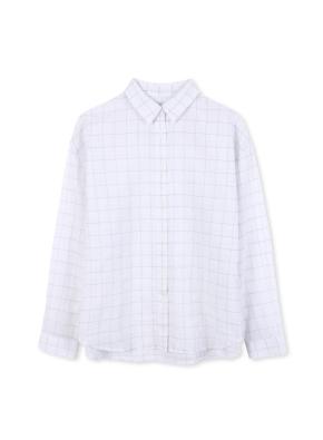 여성 패턴 체크 셔츠 _ (WT)