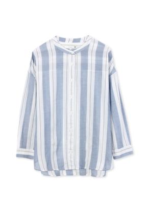 여성 오버사이즈 스트라이프 셔츠 _ (BL)