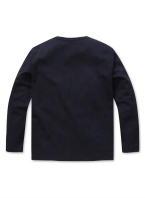 남성 블록 디자인 티셔츠  _ (NV)