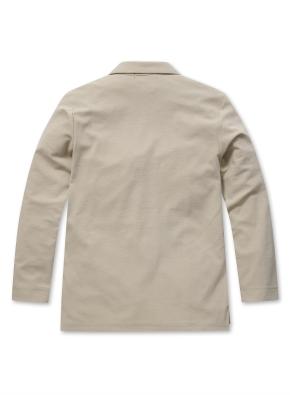 남성 오픈 카라 티셔츠  _ (BE)