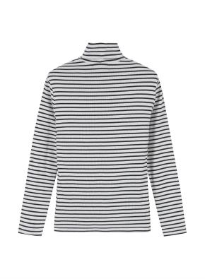 여성 후라이스 피치 터틀넥 티셔츠 _ (SWT)
