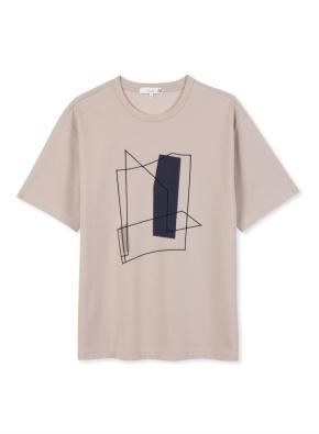 남성 쿨텐션 아트웍 5부 티셔츠 _ (BE)