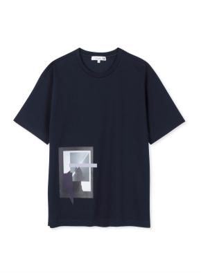 남성 쿨텐션 아트웍 5부 티셔츠 _ (NV)